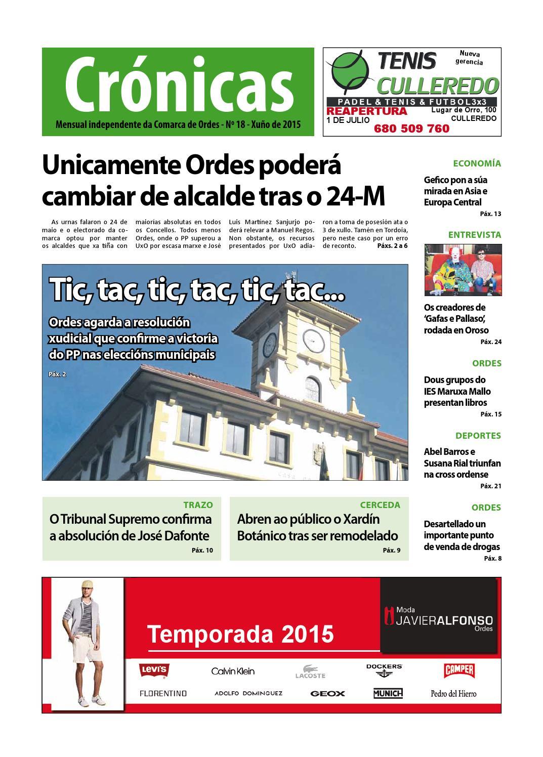 Cronicas Comarcadeordes N18 Xunho2015 By Cr Nicas Peri Dico  # Muebles Visantona