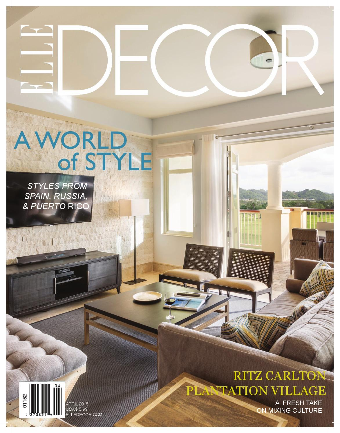 Elle decor puerto rico project by madi stewart issuu for Acanthus decoration puerto rico