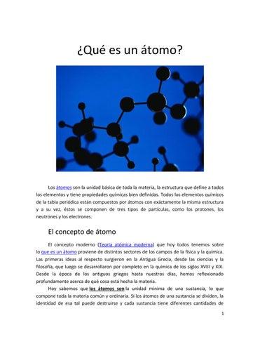 Qué Es Un átomo By Lucianapaolarigo Gmail Com Issuu