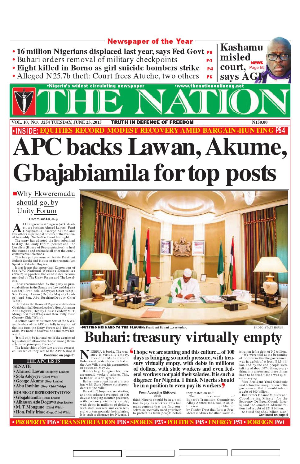 The Nation June 23 2015 By The Nation Issuu