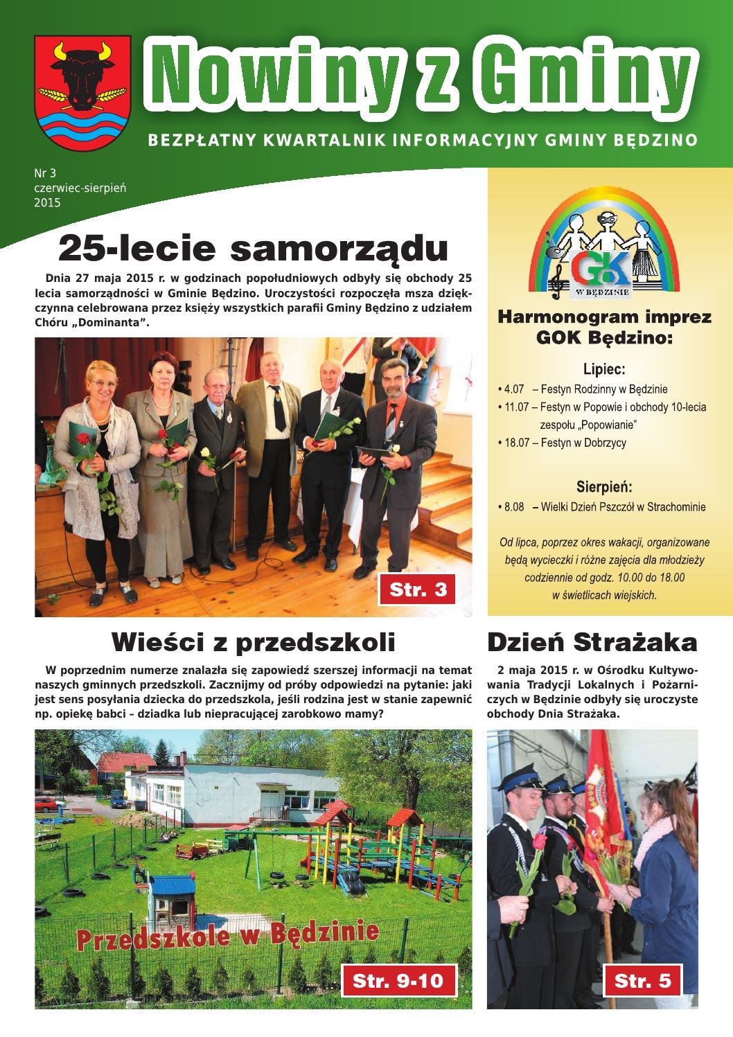 Nowiny Z Gminy Nr 3 06 2015 By Gmina Będzino Issuu
