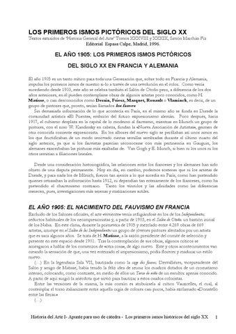 Los Primeros Ismos Pictóricos Del Siglo Xxa By Arte Trueque
