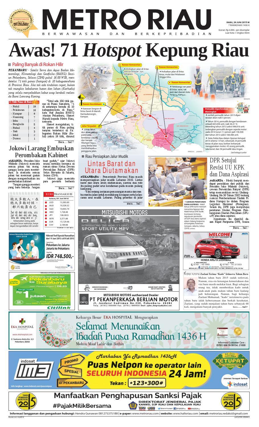 24062015 By Harian Pagi Metro Riau Issuu Produk Ukm Bumn Kain Batik Middle Premium Sutera