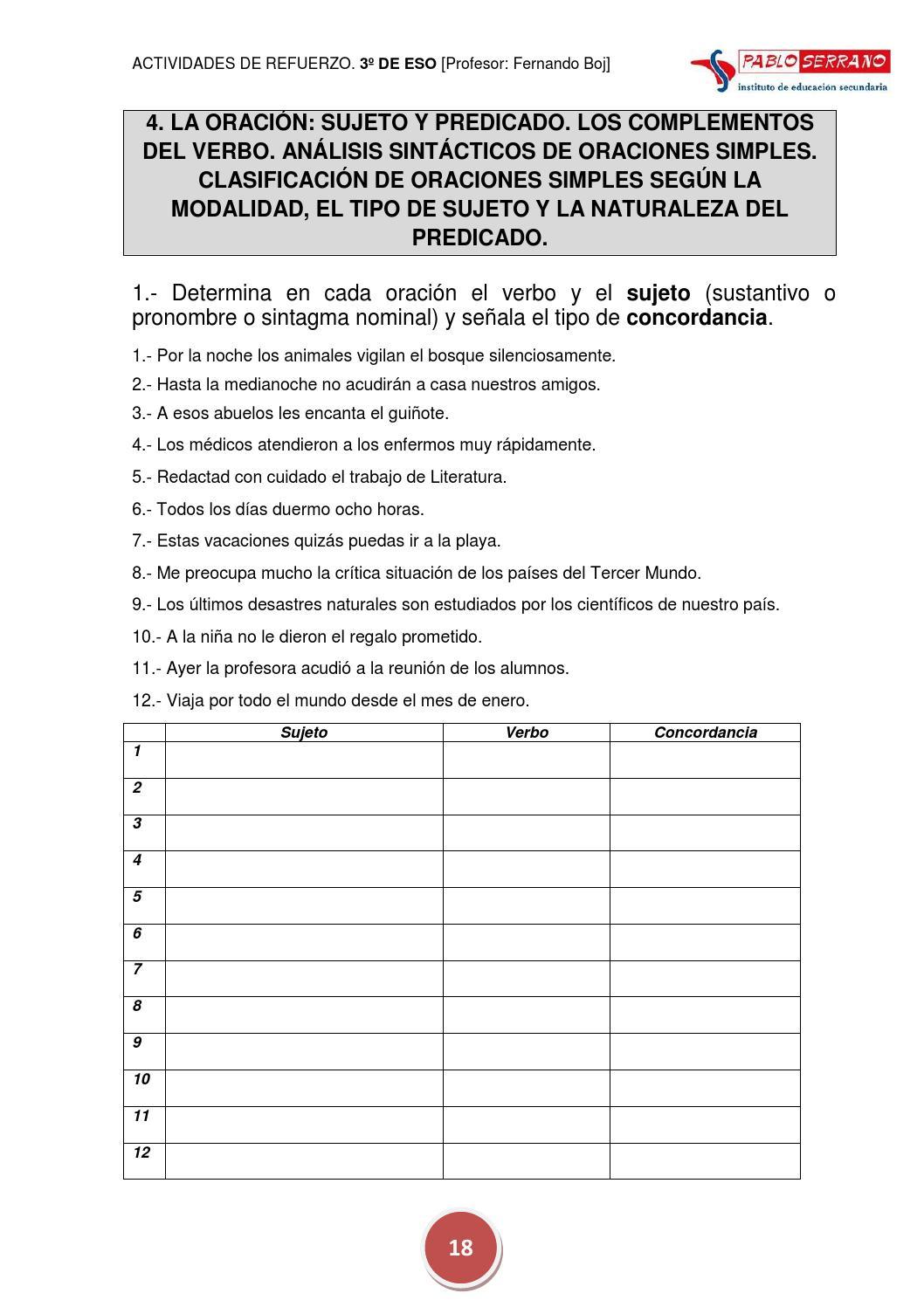 52c0cbdeb0ad Actividades de refuerzo de LENGUA CASTELLANA Y LITERATURA. 3º DE ESO by  Fernando Boj - issuu