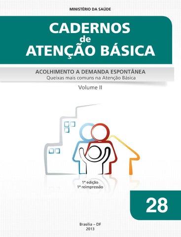 e23cb1dd3 Acolhimento Demanda Espontânea Queixas Comuns cab28v2 by BVS SMS São ...
