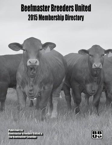 d3e3844885 2015 Membership Directory by Beefmaster Breeders United - issuu