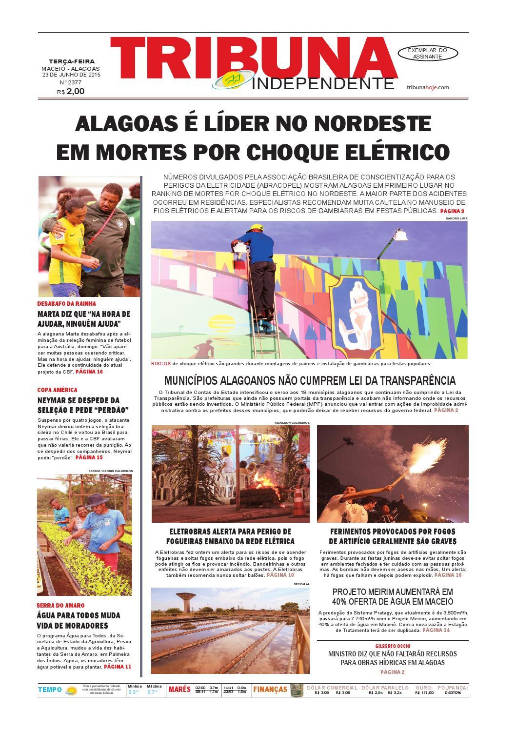 426f7e6af1e Edição número 2377 - 23 de junho de 2015 by Tribuna Hoje - issuu