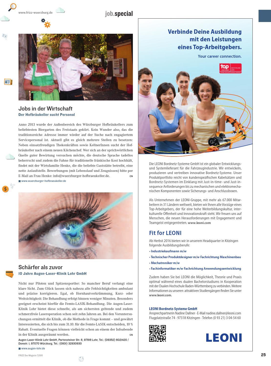 FRIZZ Das Magazin für Würzburg Juli 2015 by FRIZZ Das