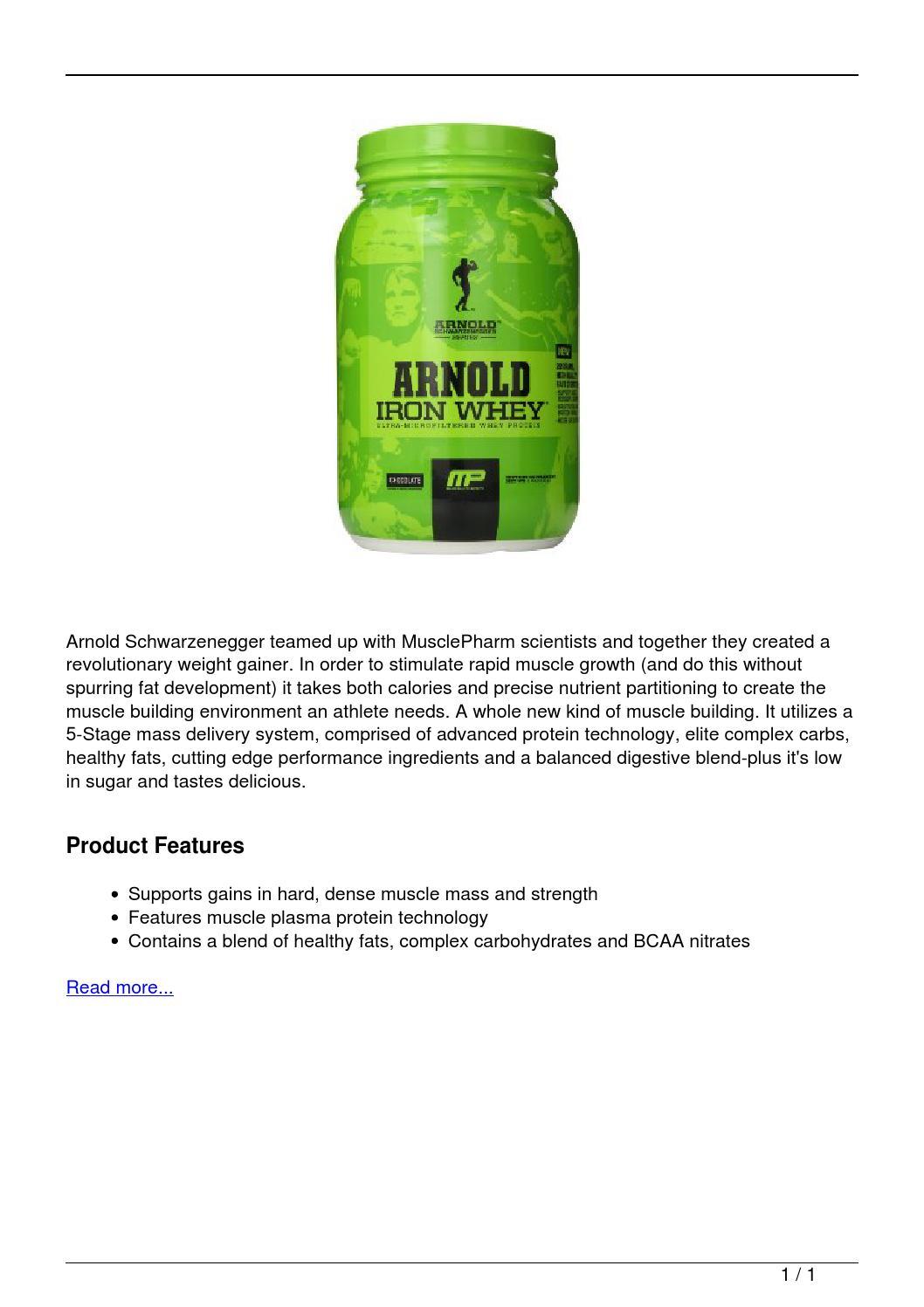 Arnold Schwarzenegger Series Arnold Mass Diet Supplement ...