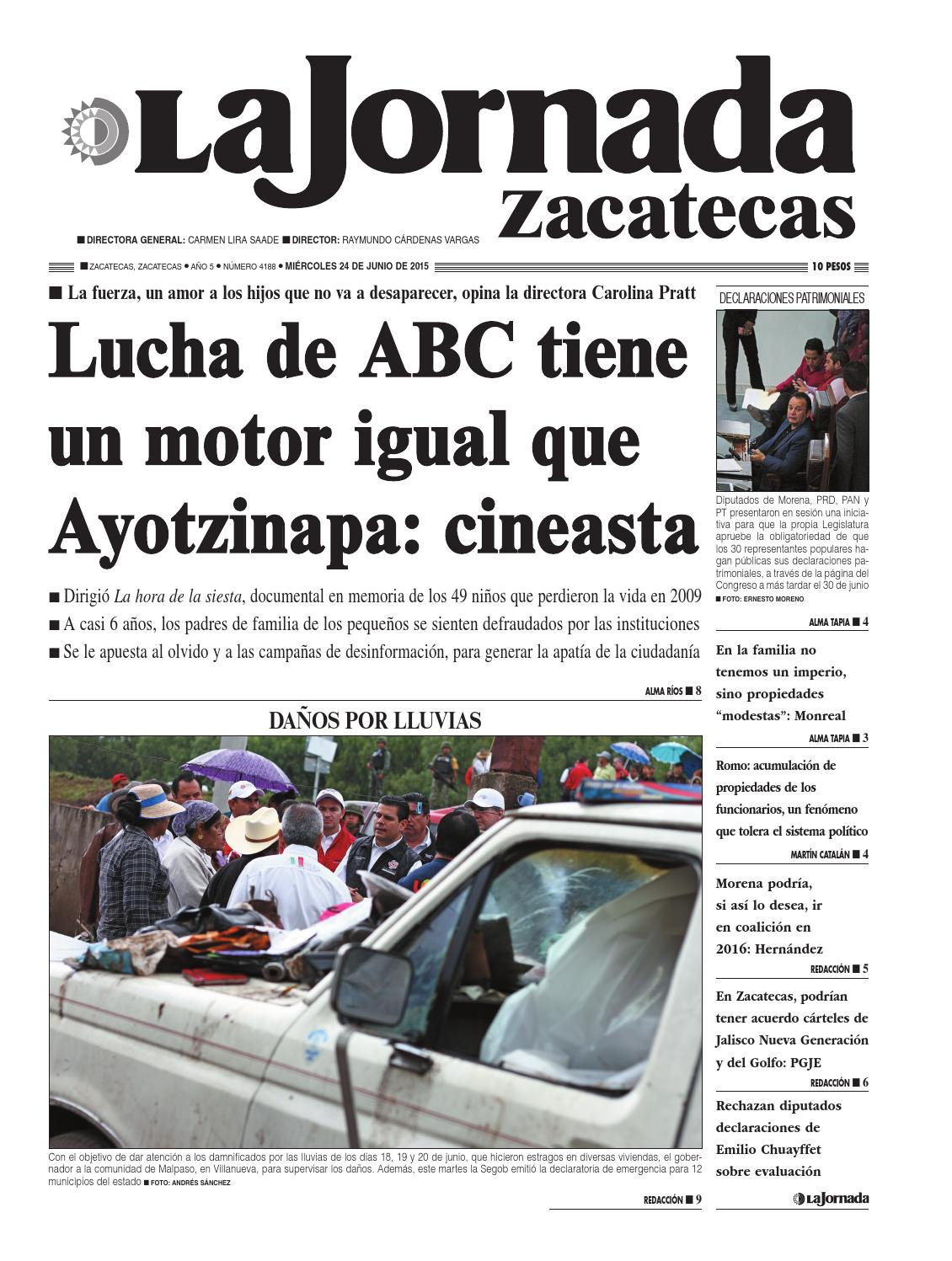 La Jornada Zacatecas Mi Rcoles 24 De Junio Del 2015 By La Jornada  # Muebles Tumoine