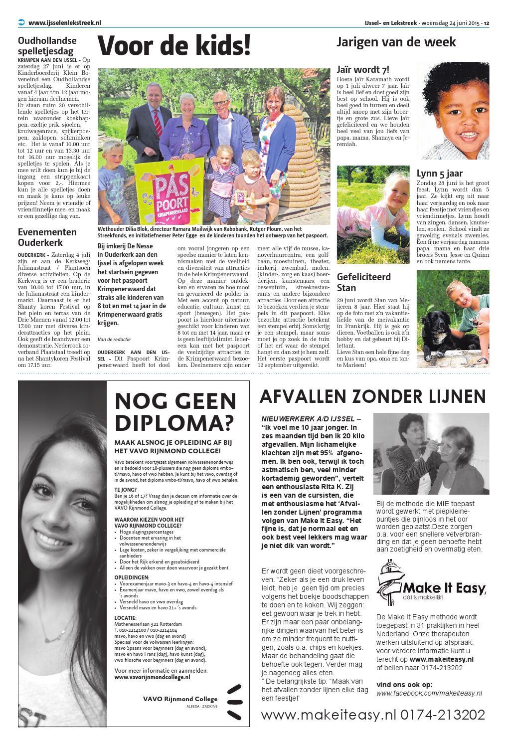 Ijssel Lekstreek Krimpen Week26 By Wegener Issuu