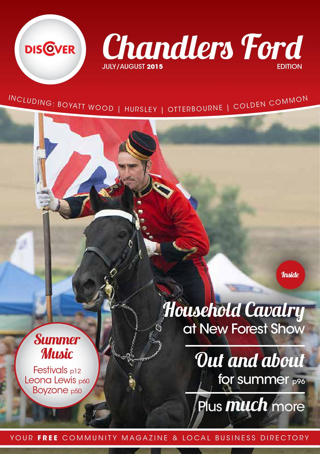 09bc482598 Discover Chandlers Ford July August 2015 by Tania Houston - issuu