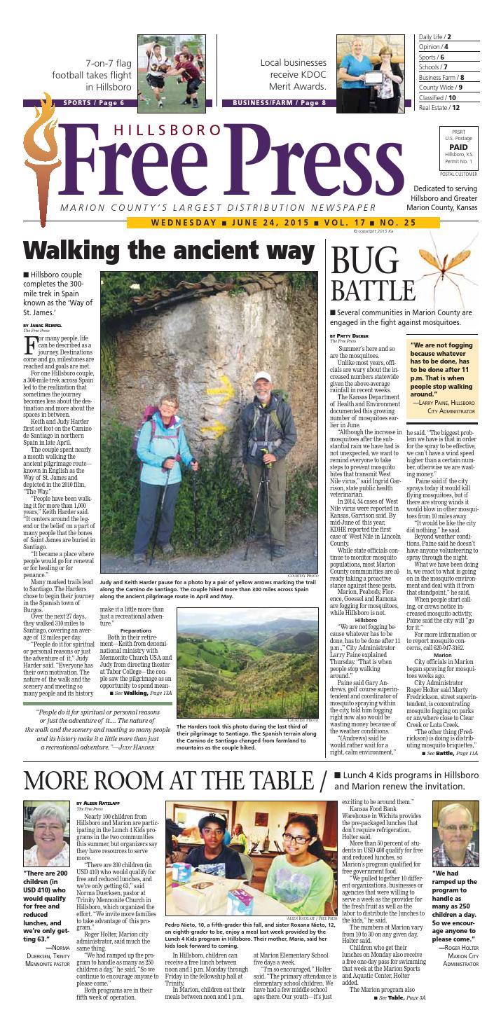 Hilllsboro Free Press June 24, 2015