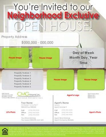 Neighbor Open House Flyer Template By Cmg Financial Utc Issuu