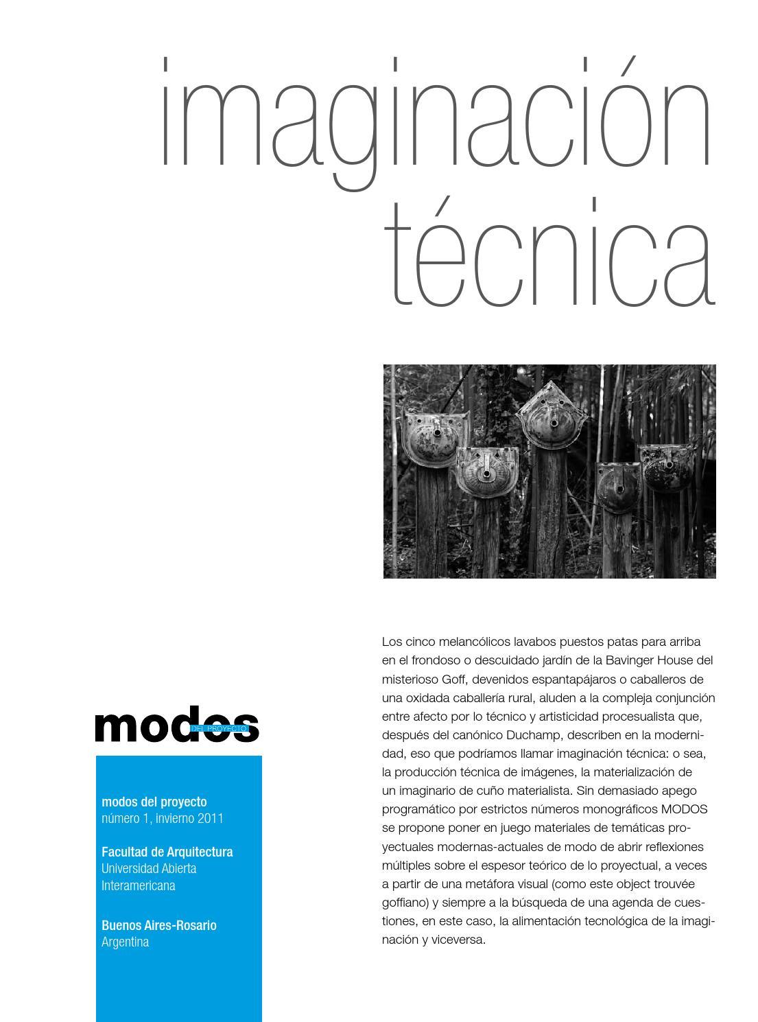 Revista modos - nº 01 Imaginación Técnica by CAEAU - issuu