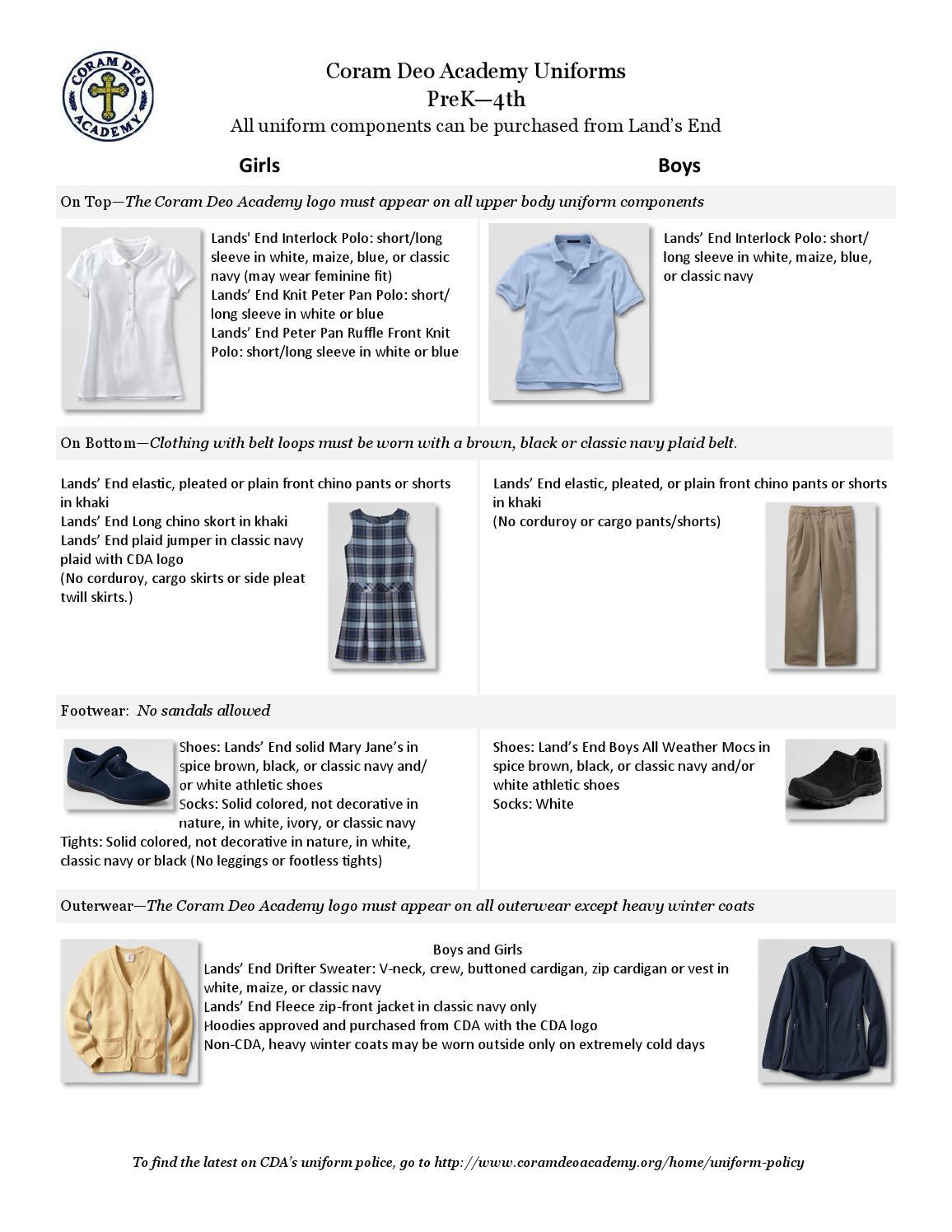 20e112802 CDA Uniform and Dress Code by Jessica Seekamp - issuu