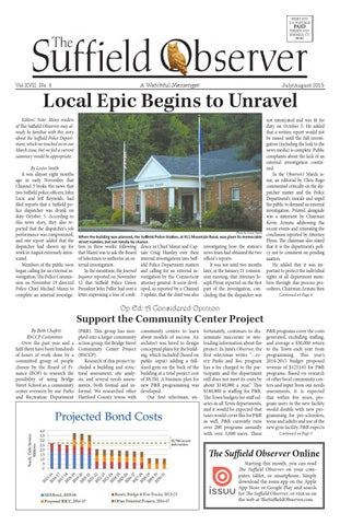The Suffield Observer   July/August 2015 by The Suffield Observer