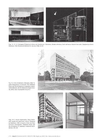 12 13 14 Kanagawa Prefectural Library And Auditorium Yokohama Garden Entrance Court Ground Floor Plan Designed By Kunio Maekawa 1954