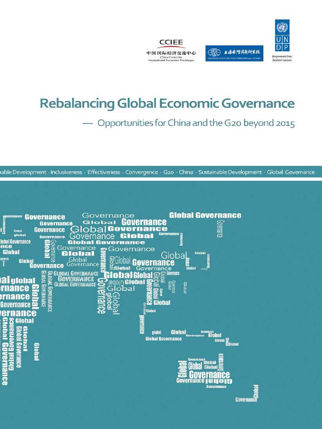 Rebalancing Global Economic Governance - REPORT by United Nations ...