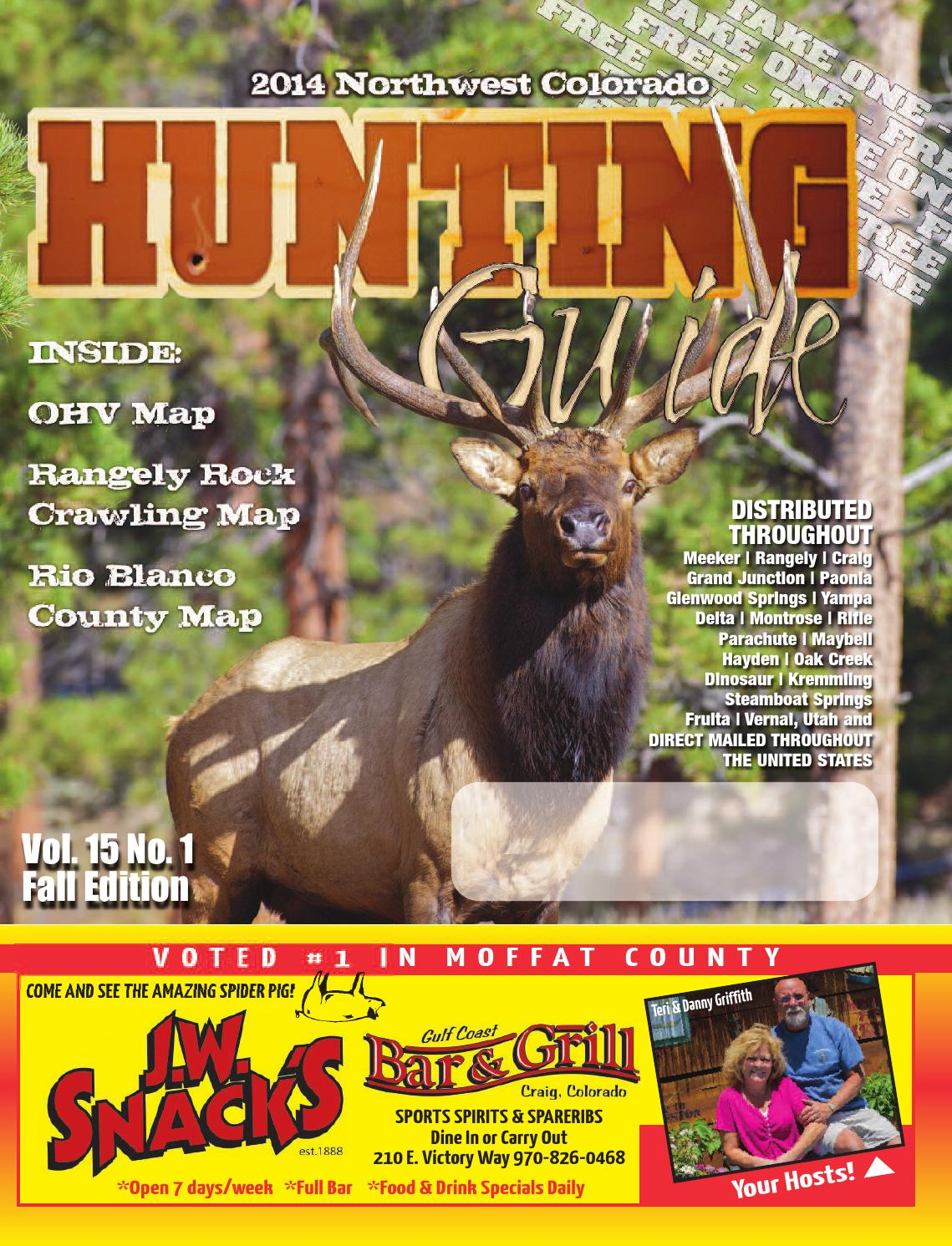 2014 Northwest Colorado Fall Hunting Guide by Rio Blanco