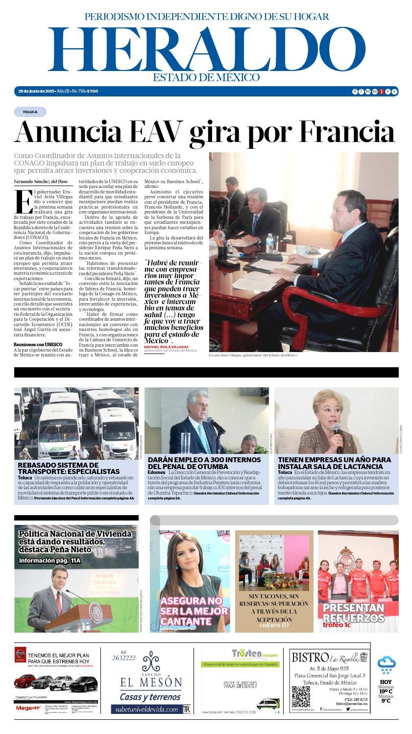 Jueves 25 junio by Heraldo Estado de México - issuu