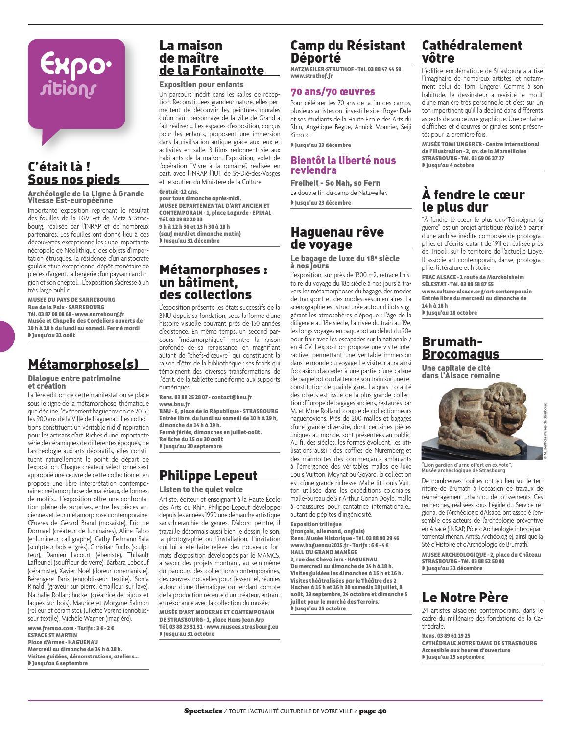 Spectacles Publications à Strasbourg n°184 / Juillet/Août