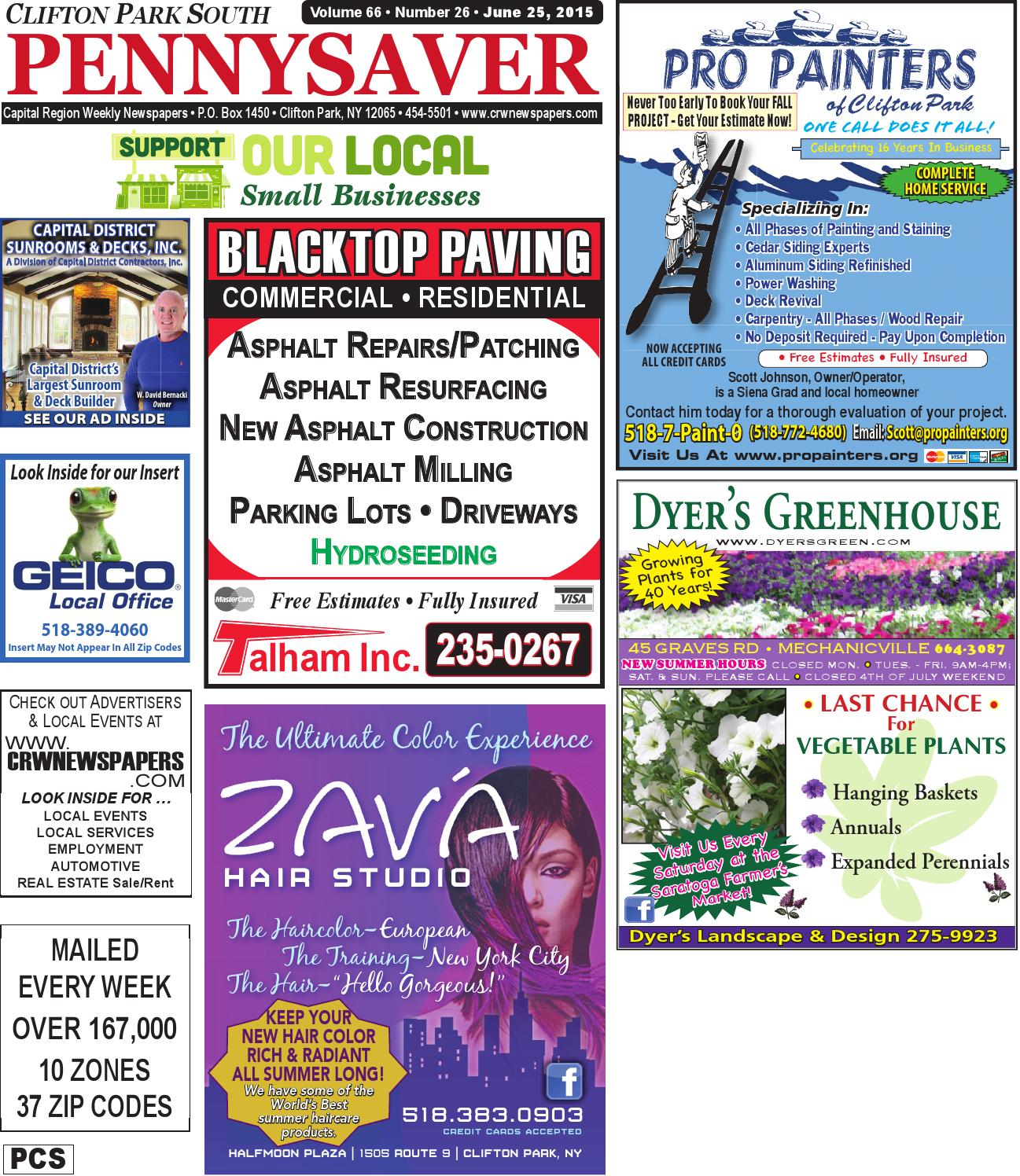 Clifton Park South Pennysaver 062515 By Capital Region