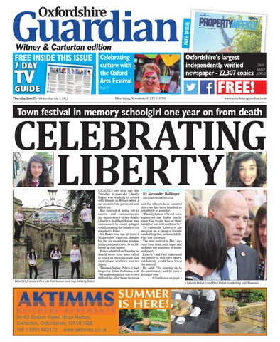 ce77e8e8 25 june 2015 oxfordshire guardian witney by Taylor Newspapers - issuu