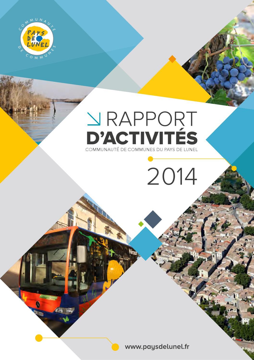 Rapport d 39 activites 2014 de la communaut de communes du pays de lunel by pays de lunel issuu - Office du tourisme de lunel ...