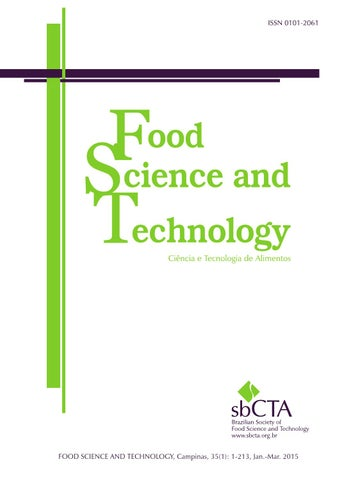 Food Science And Tecnology Volume 35 Number 1 2015 By Editora
