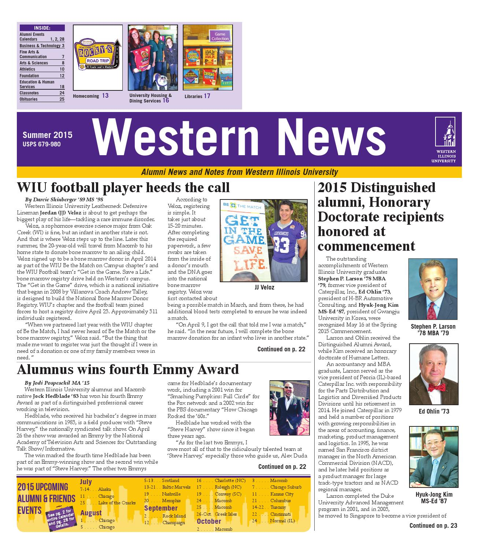 Western News - Summer 2015 by Western Illinois University - issuu