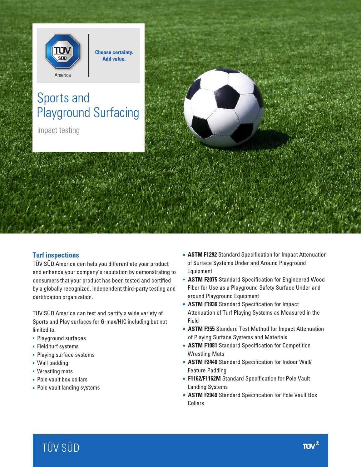 Sports & Playground Surfacing by TÜV SÜD America - issuu
