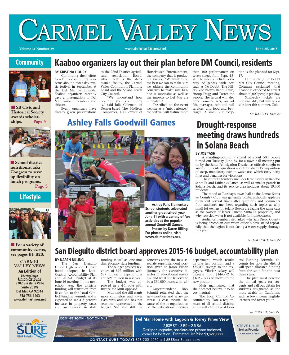 1c9becdc515cdb Carmel valley news 6 25 15 by MainStreet Media - issuu