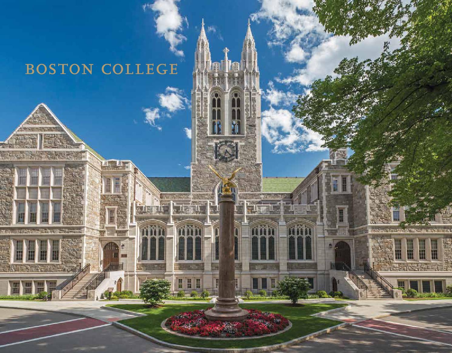 boston college undergraduate admission bulletin by boston college