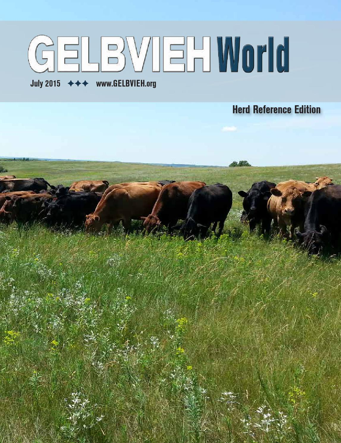 july 2015 gelbvieh world herd reference edition by. Black Bedroom Furniture Sets. Home Design Ideas