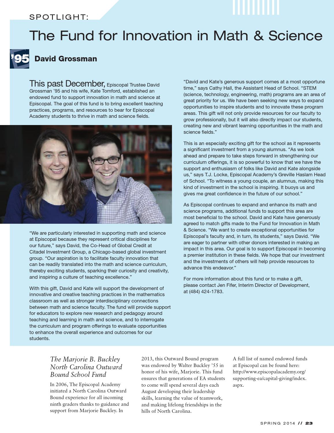 Connections Magazine: Spring 2014 by The Episcopal Academy - issuu