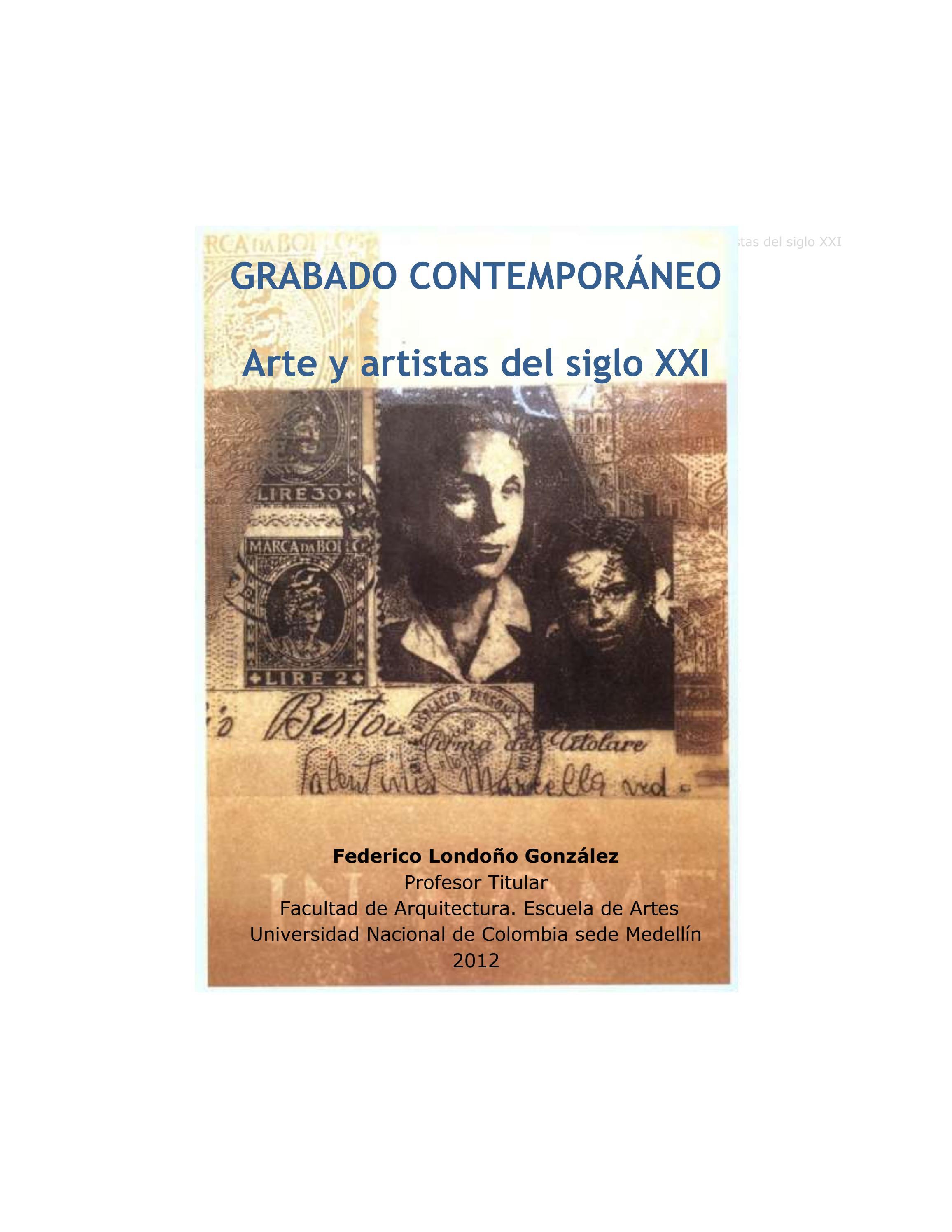 Grabado contemporaneo arte y artistas de siglo xxi agosto 2012 ...