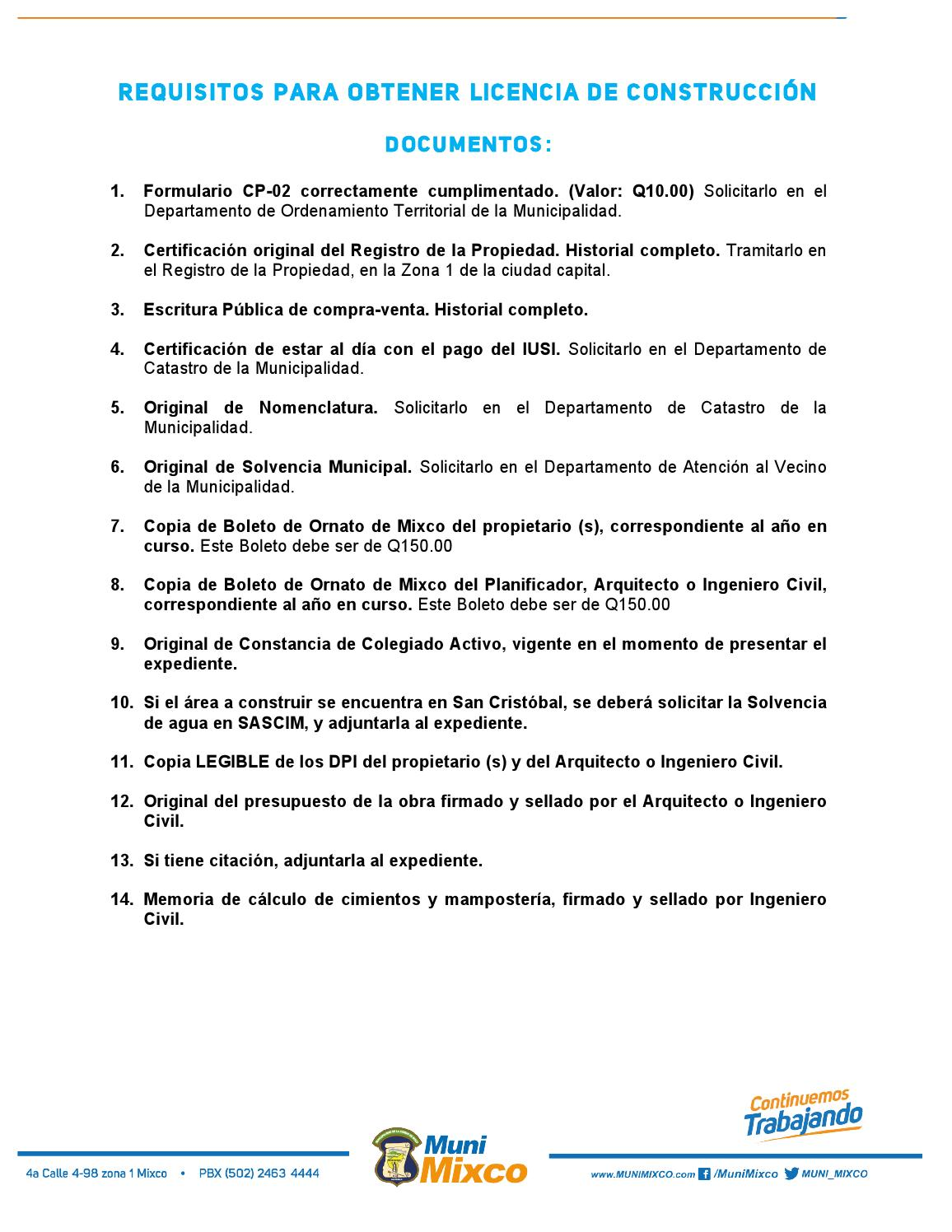 Requisitos para licencia de construccion by municipalidad - Requisitos para construir una casa ...