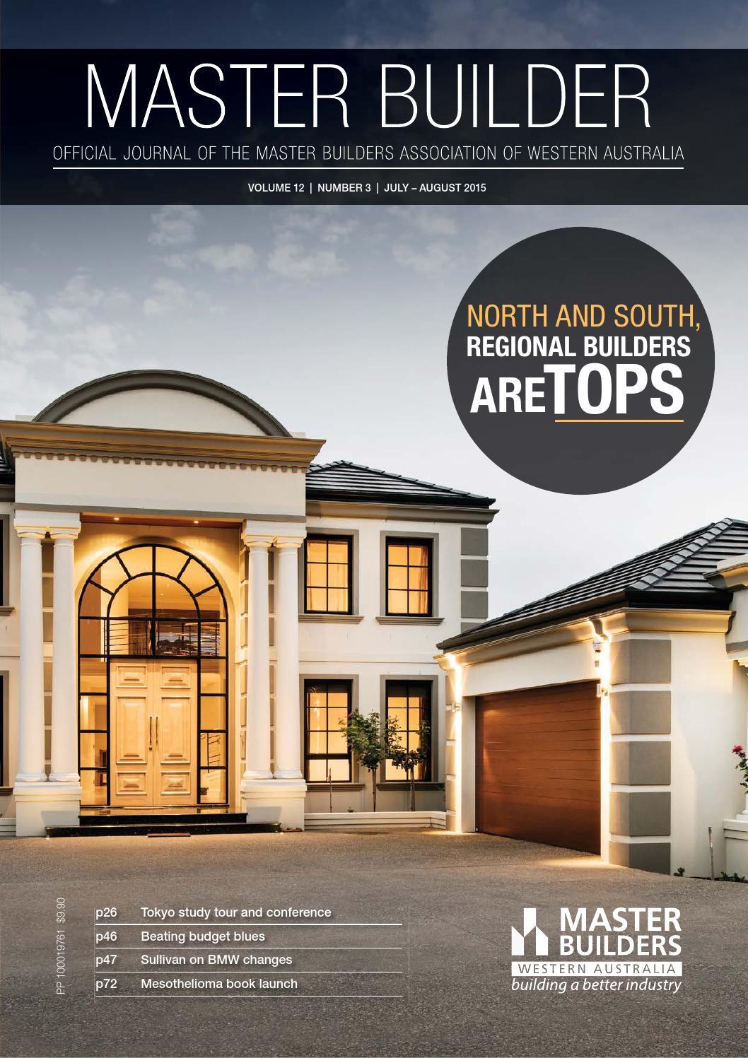 2015 Master Builders Western Australia Magazine July