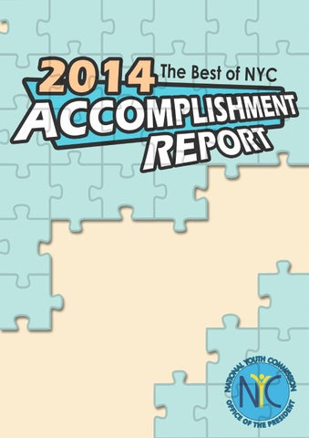 National Youth Commission 2014 Accomplishment Report By Sarah