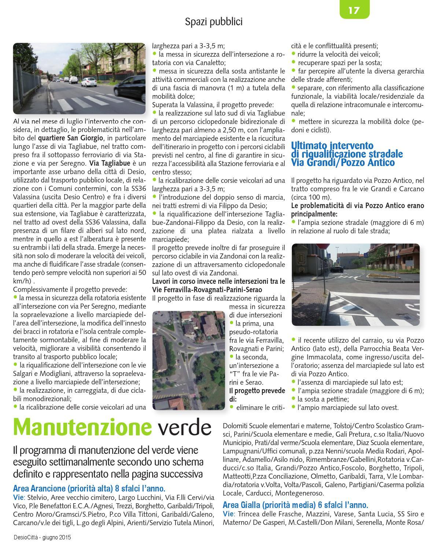 Via Trincea Delle Frasche Desio desio città giugno 2015 by lime edizioni srl - issuu