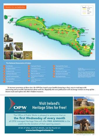 Map Of Ireland Heritage Sites.Heritage Ireland Ezine Issue 2 By Office Of Public Works Issuu