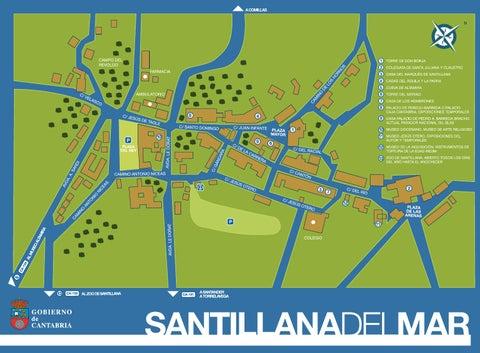 Santillana Del Mar Mapa.Plano Santillana Del Mar Cantabria By Cantabria Turismo Issuu