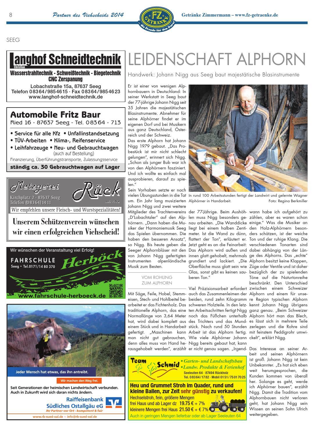 Viehscheid-Beilage der Allgäuer Zeitung im Ostallgäu by rta.design ...