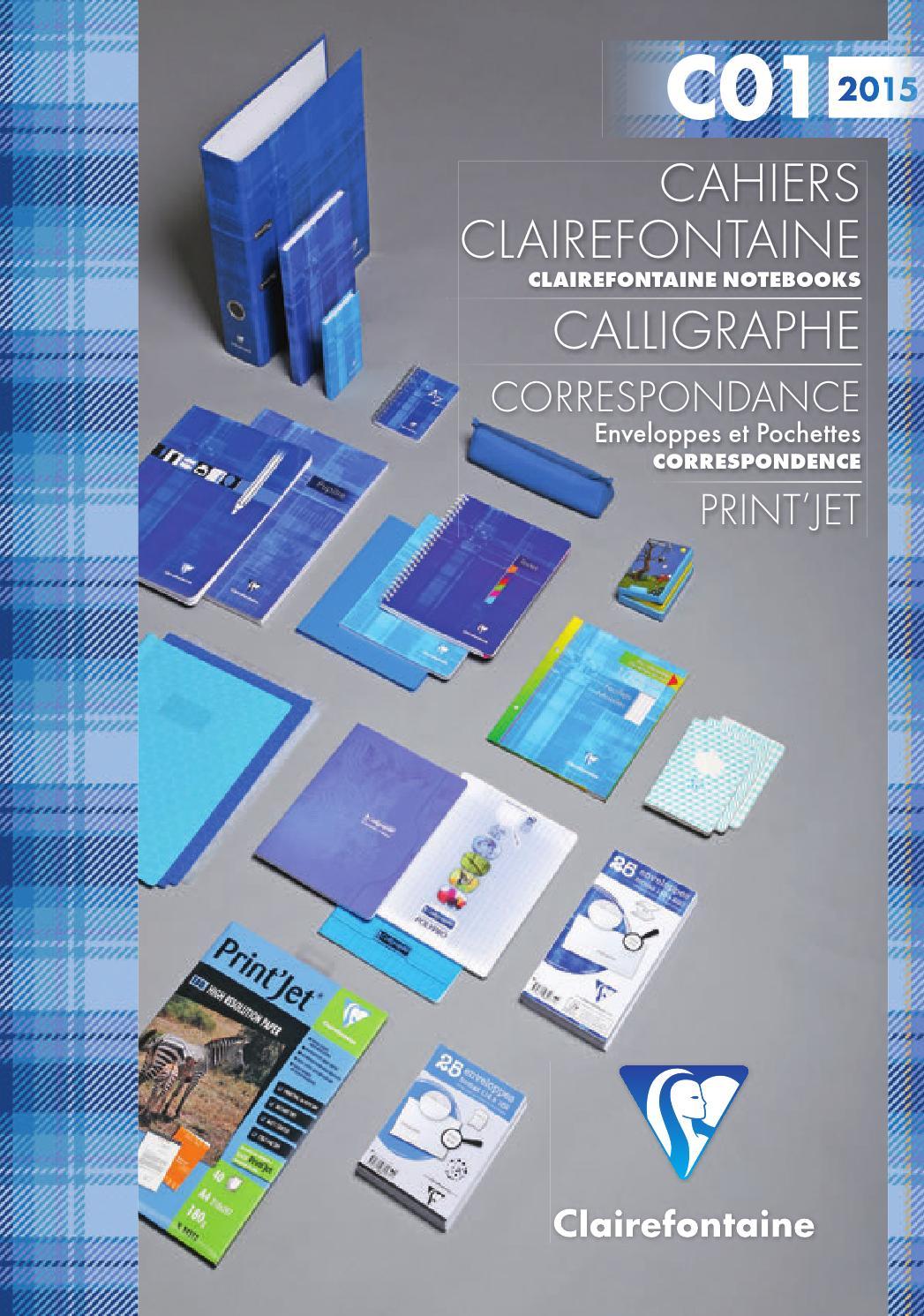 68721C 1 Cahier reliure int/égrale 17 x 22-100 pages s/éy/ès- Lot de 5 Clairefontaine