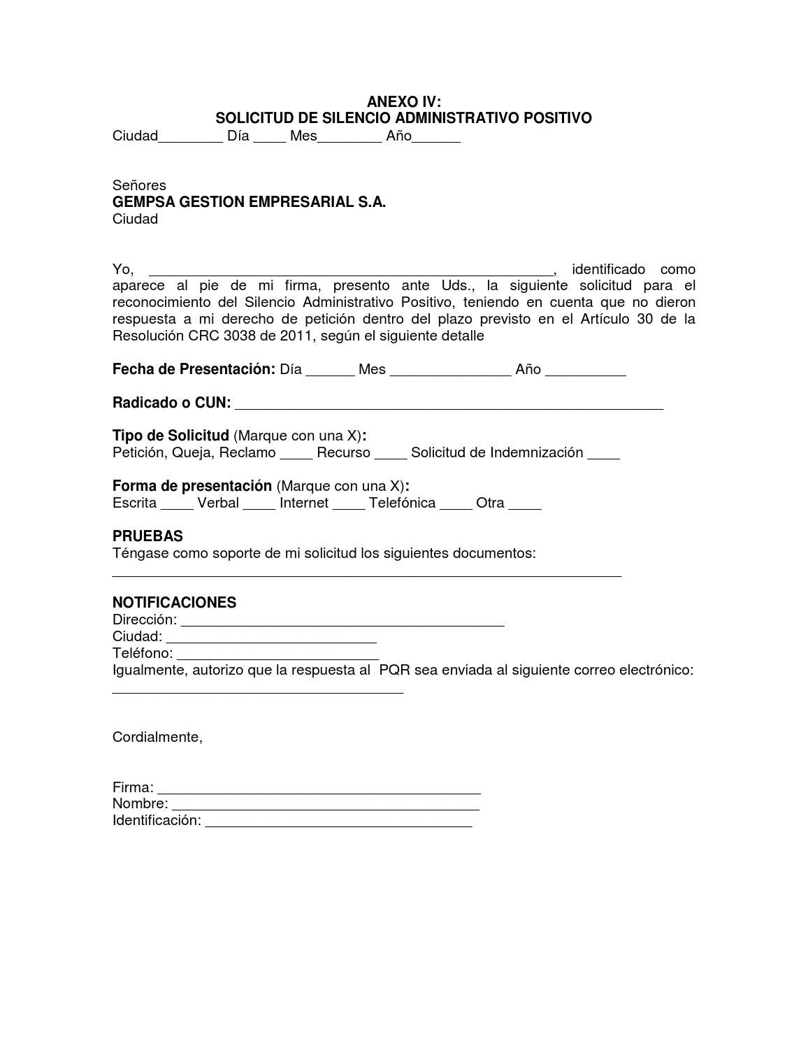 Peticion Modelo De Solicitud