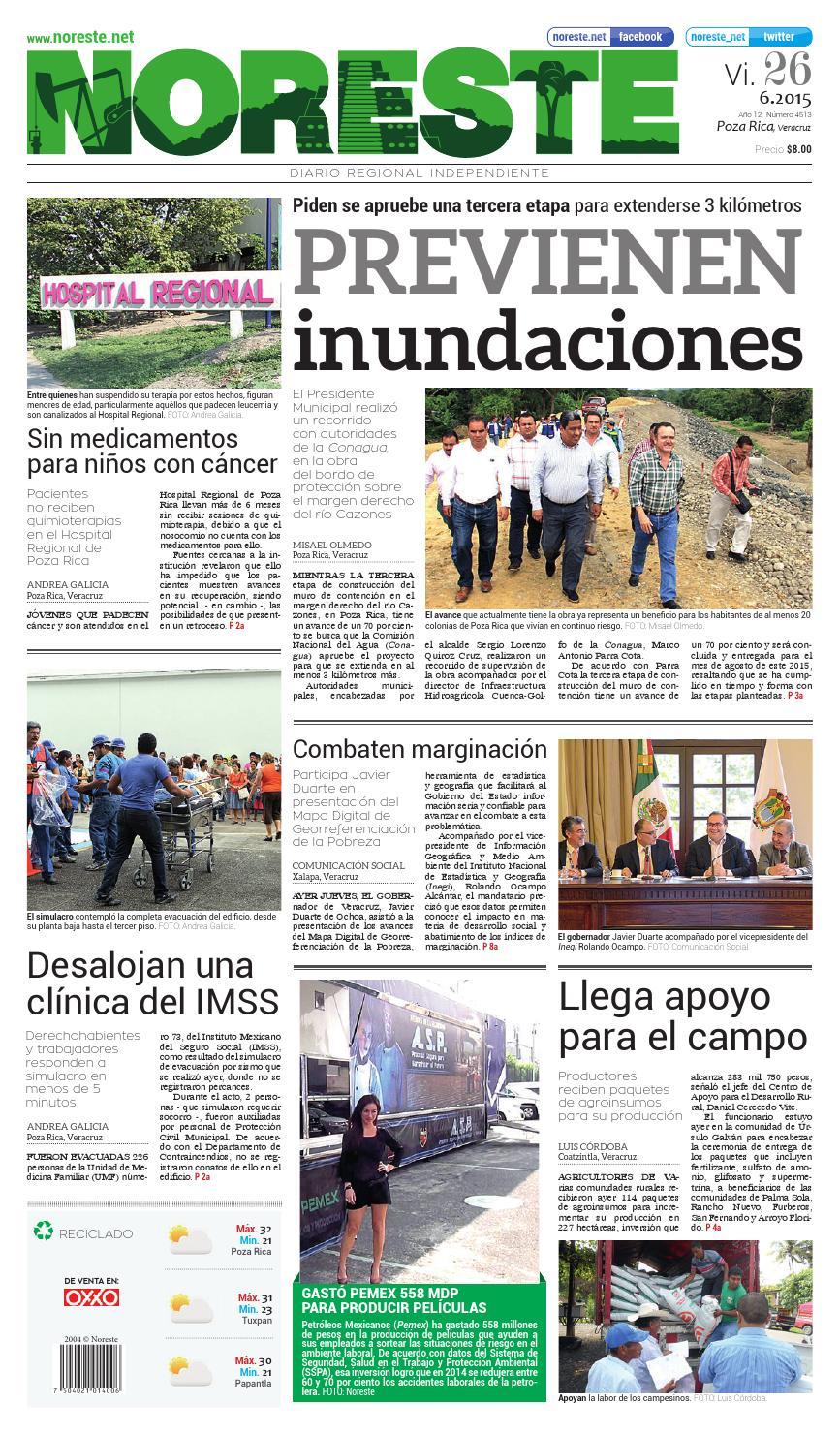 Versi N Impresa 26 De Junio De 2015 By Noreste Diario Regional  # Cota Muebles Teziutlan