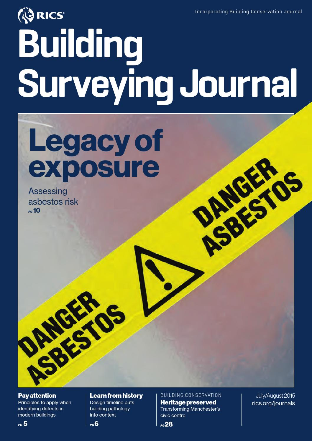 building surveying journal july august 2015 by rics issuu - Asbestos Surveyor Cover Letter