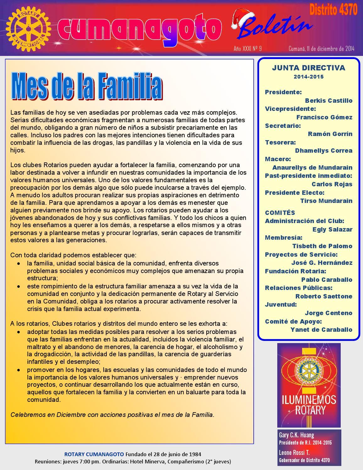 Boletin Rotary Cumanagoto 14 12 11 By Rotary Cumanagoto Issuu