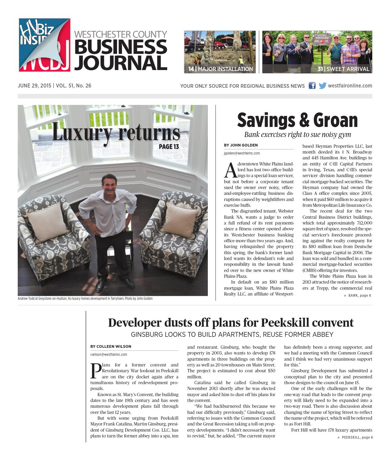 Westchester County Business Journal 062915 By Wag Magazine   Issuu